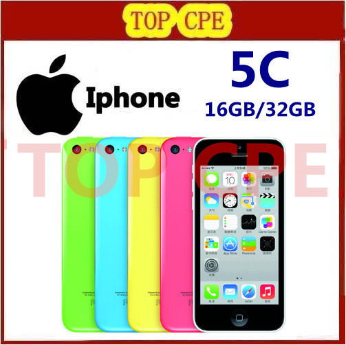 Iphone 5c Factory Unlocked Original Apple iphone 5C phone 8gb 16gb 32gb 8MP Camera ios dual core Wifi GPS WCDMA 3G Free Shipping(China (Mainland))