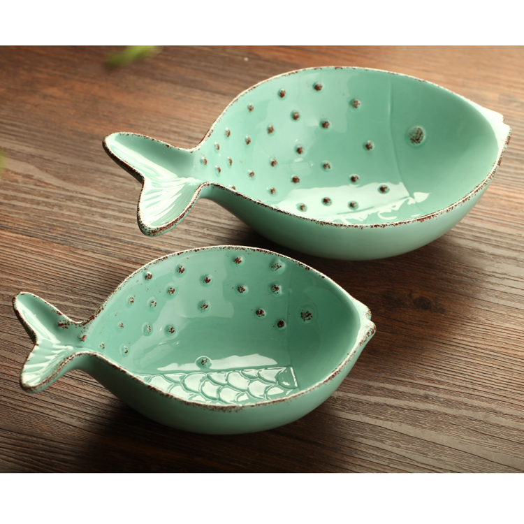 gift wholesale chinese ceramic bowl kawaii salad bowl fish