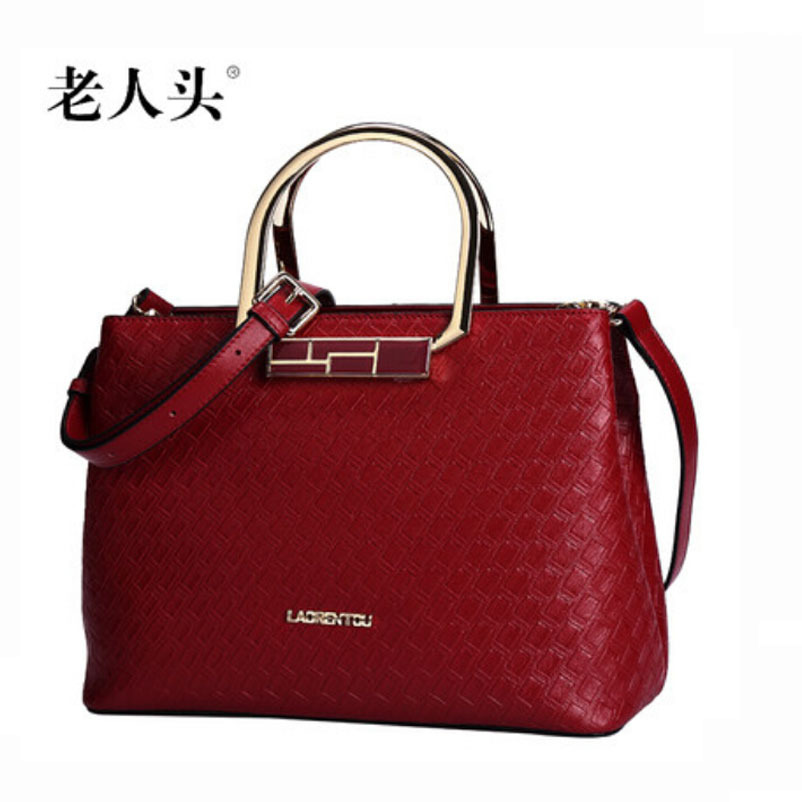 Famous brands top quality dermis women bag 2015 new autumn and winter fashion embossed handbag Shoulder  package Rome bag<br>