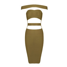 Free Shipping 2016 New Fashion European and American Style Women Black Sexy Cut Out Bandage Dresses(China (Mainland))