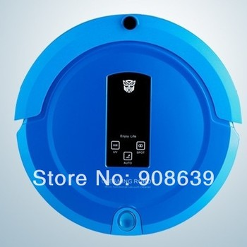 Free Shipping 2015 Most Popular Shining Logo 4 IN 1 Auto Recharge Remote Controller  Robot Vacuum Cleaner