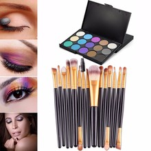 Buy New design 15PC Professional wood handle sotf Cosmetics Beauty Makeup brush+15 Color Contour Face Cream Makeup Concealer Palette for $7.18 in AliExpress store