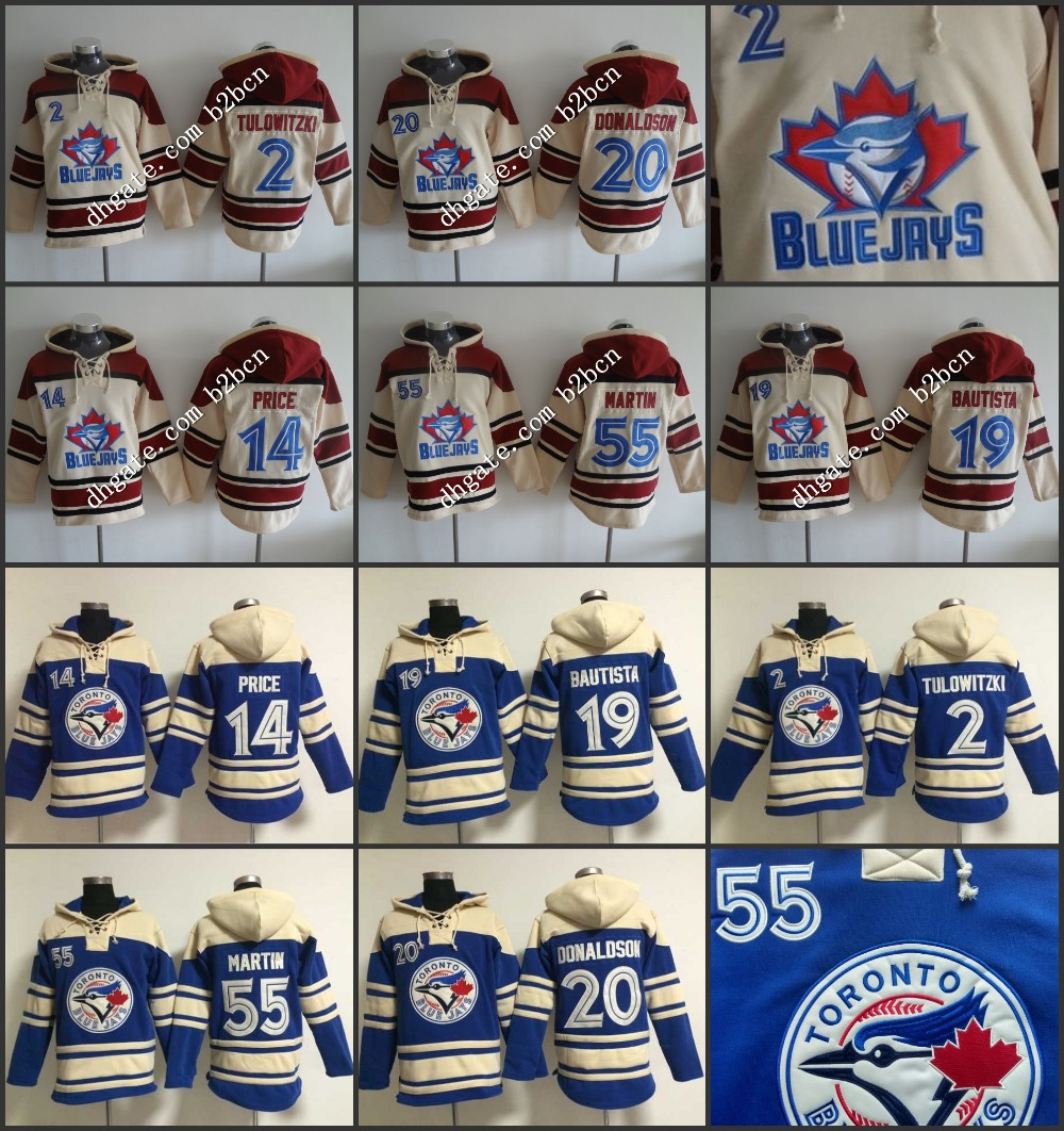 product Cheap toronto blue jays hoodie 19 Jose Bautista 20 Josh Donaldson 55 Russell Martin Jersey Old Time baseball Hoodies stitched