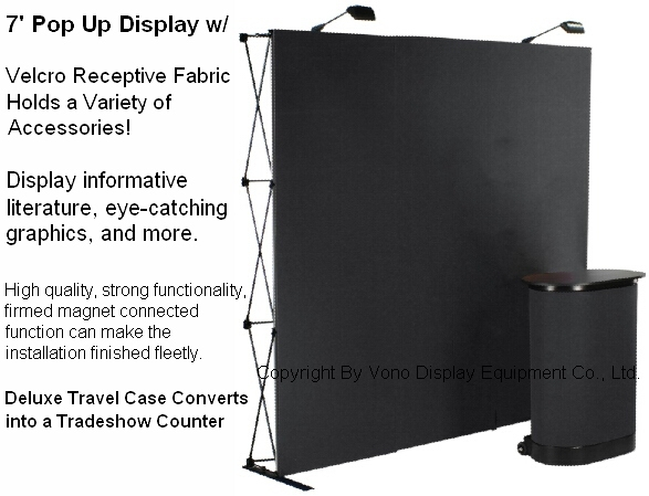 Tradeshow 7' Pop Up 3*3 Flannelette magnet display booth (Straight)-----Black or Blue(China (Mainland))