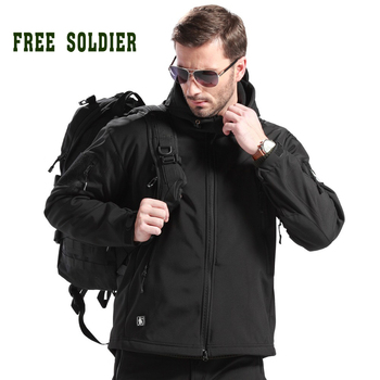 FREE SOLDIER Мужская тактическая  альпинистская одежда из мягкой оболочки акульей кожи мужская верхняя куртка камуфляжного цвета ,водостойкая ветрозащитная ветровка Москва склад, поддержать возвращение, замена