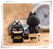 Batman Cartoon USB 2.0 memory stick USB Flash Drive 4G/8G/16G/32G/64G Pen drive S39