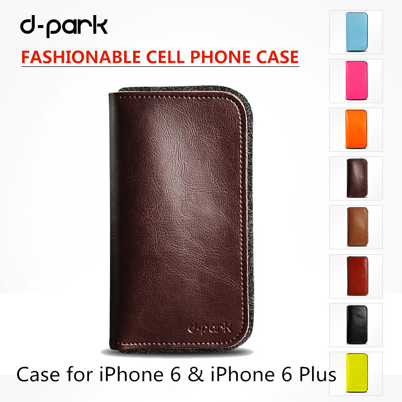 Genuine Leather & Wool Felt Case Cover For Iphone 6 Plus 5.5 Inch For Iphone 6 4.7 Inch(China (Mainland))