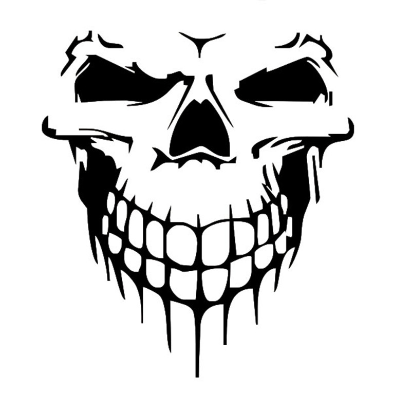 Halloween large size skull car sticker Car styling Glue Sticker Motorcycle Auto Reflective Decal For ford vw opel renault(China (Mainland))