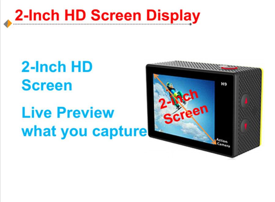 Original HD 4K WIFI Sport Action Camera EKEN H9R 2.4G Remote Control Waterproof Cam Camcorder+32GB+Bag+Go Pro accessory