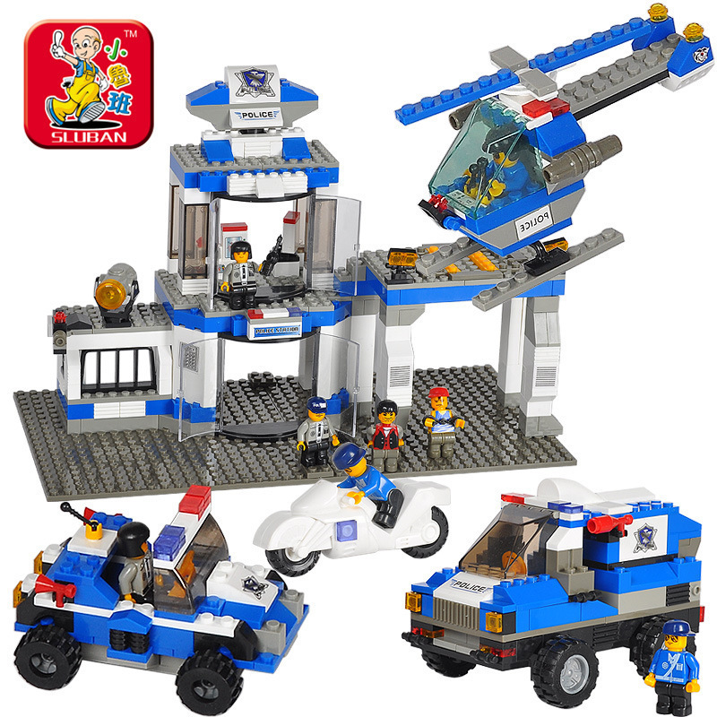 Building Block Set Compatible lego new police Police Command Center 3D Construction Brick Educational Hobbies Toys Kids