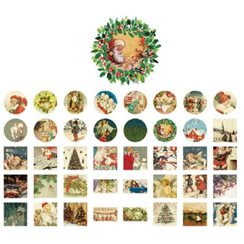 40PCS/pack Christmas DIY Multifunction seal Sticker Decorative Sticker set/for Handmade Products/Sealing stick/Wholesale(China (Mainland))