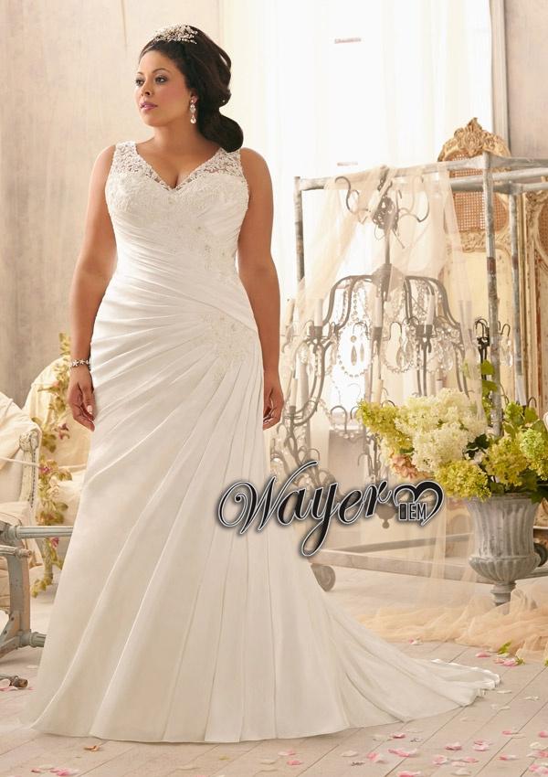 Plus Size Brides Made Dresses 8