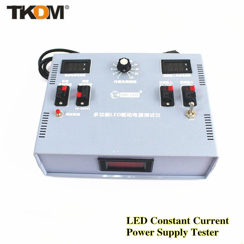 TD LED constant current power supply tester Adjustable Built-in 200W load and External load 12/24V DC Input LED Light Tester