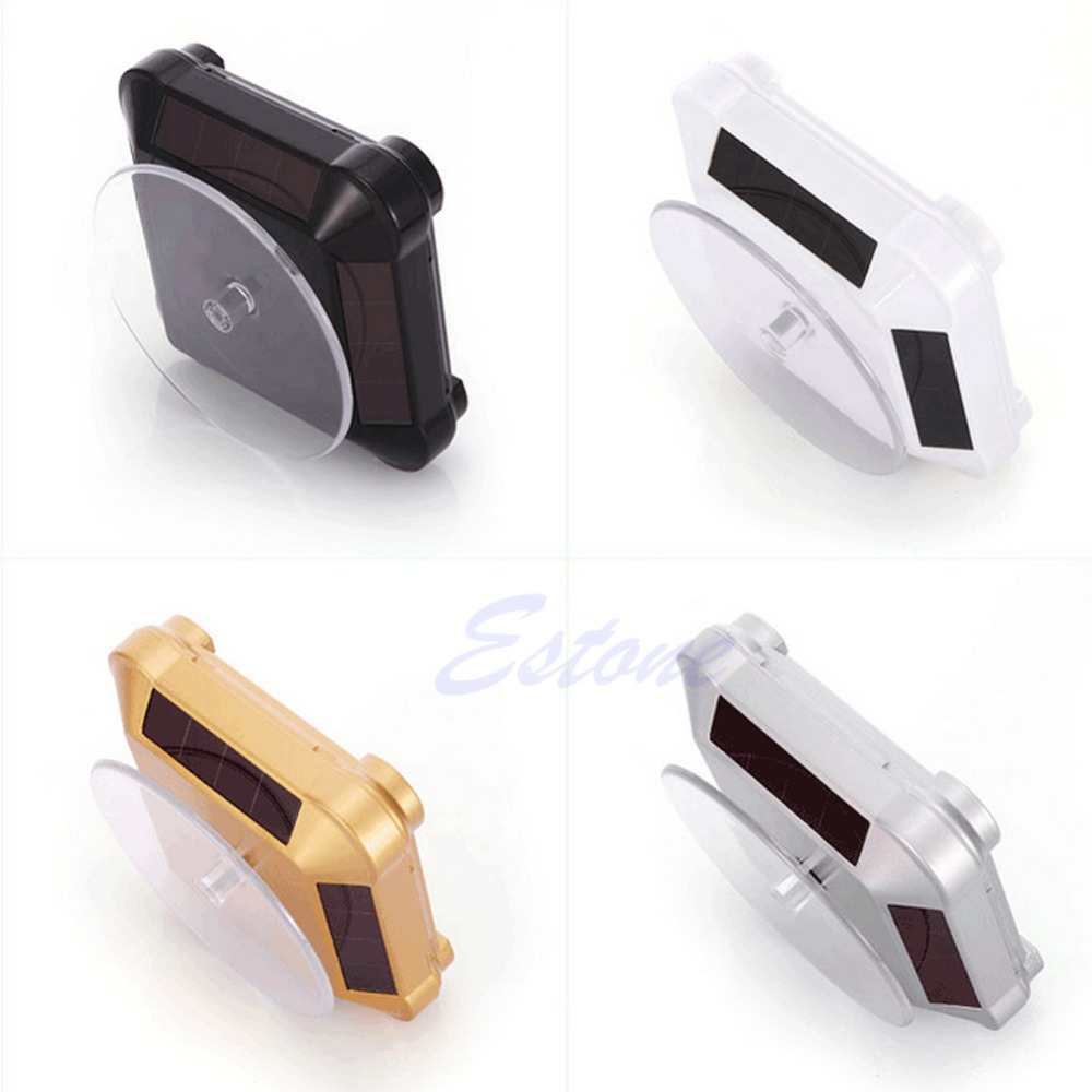 2016 newest Solar Showcase 360 Turntable Rotating Jewelry Watch Phone Ring Display Stand free shipping-J117(China (Mainland))