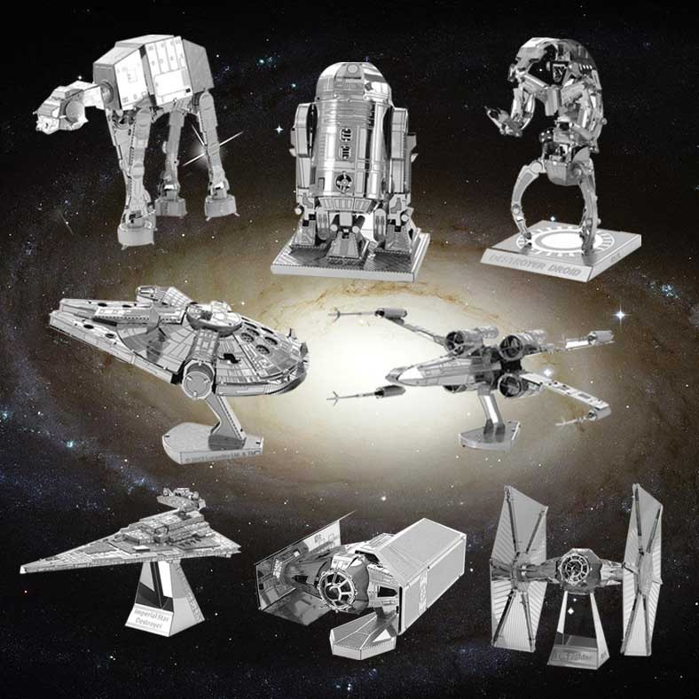 DIY 3D Metal Puzzle Model Toys Star Wars For Children/Adult Cartoon Robot X-Wing R2-D2 RT-RT Model(China (Mainland))
