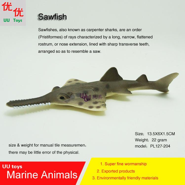 Hot toys Sawfish Simulation model Marine Animals Sea Animal kids gift educational props (carpenter sharks)(China (Mainland))
