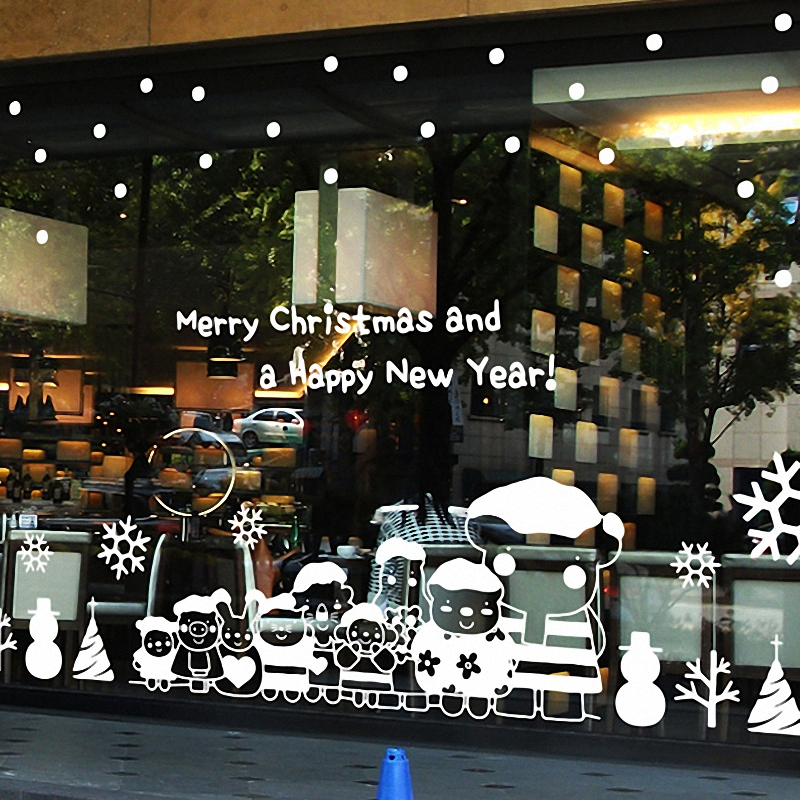 free shipping 2015 christmas x mas large wall glass window