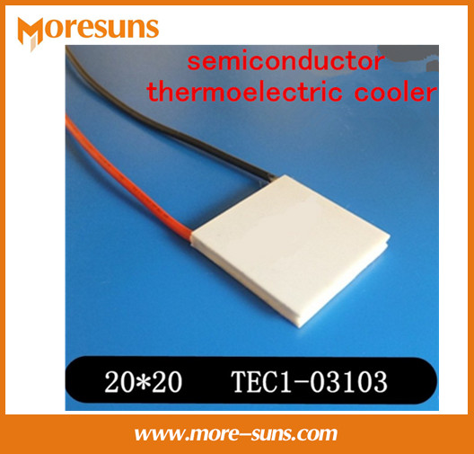 Fast Free shipping 5pcs/lot New small power semiconductor thermoelectric cooler TEC1-03103 20*20*4.1mm tec(China (Mainland))