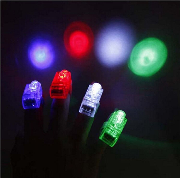 25pcs lot multi color bright led laser finger ring toy. Black Bedroom Furniture Sets. Home Design Ideas