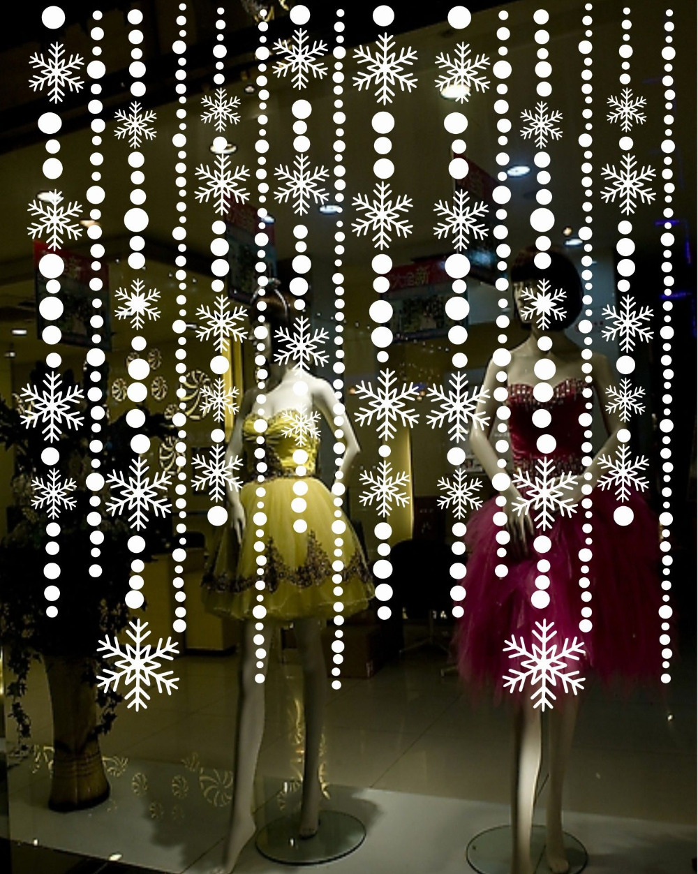Aliexpress com buy christmas snowflake decals amp stickers bead curtain for doors window glass