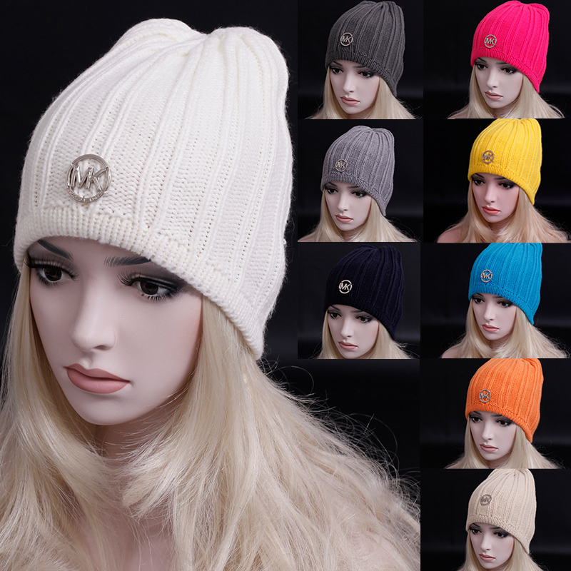 Hot sales 2015 European winter Candy color woman beanie Warm wool knitted hats high quality Outdoor wool hat / gorro /caps(China (Mainland))