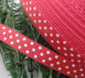 3 8 30y Red Grosgrain Ribbon Print Dots Appliques Craft Wedding R850