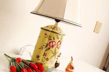 Recalling home furnishings Markor American Ceramic hand-painted lamp 6-A Rose(China (Mainland))