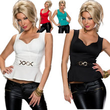 4 Colors M,L Sexy top wear for lady Cheap Tank Tops Free Shipping!! Hot Sale Popular sexy Peplum Top 4F2275