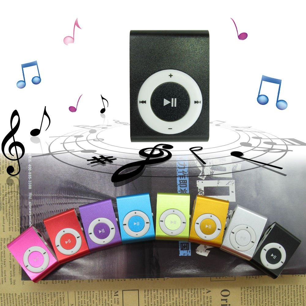 Metal ColorfulMini MP3 Music Player With Micro TF/SD Slot High Quality Clip Portable MP3 Music Player NO Screen For 8 Colors(China (Mainland))