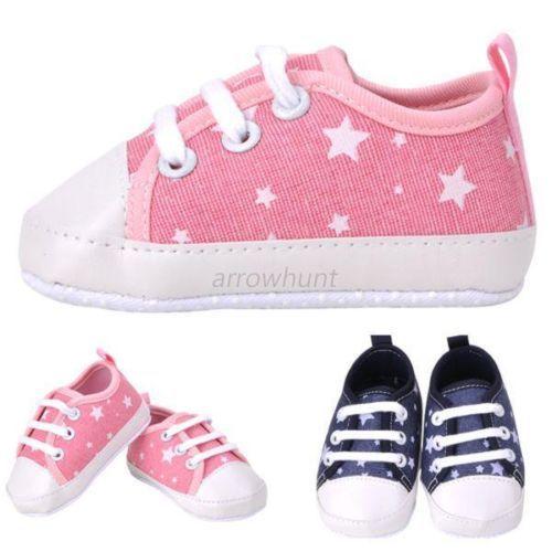 Newborn Baby Toddler Boys Girls Soft Sole Kids Shoes Canvas Prewalker Lace Up Sneaker 0-18M<br><br>Aliexpress