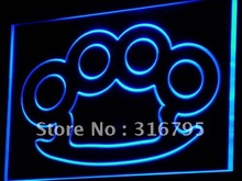 i778-b Knuckles Brass Weapons Bar Pub LED Neon Light Sign Wholeselling Dropshipper(China (Mainland))