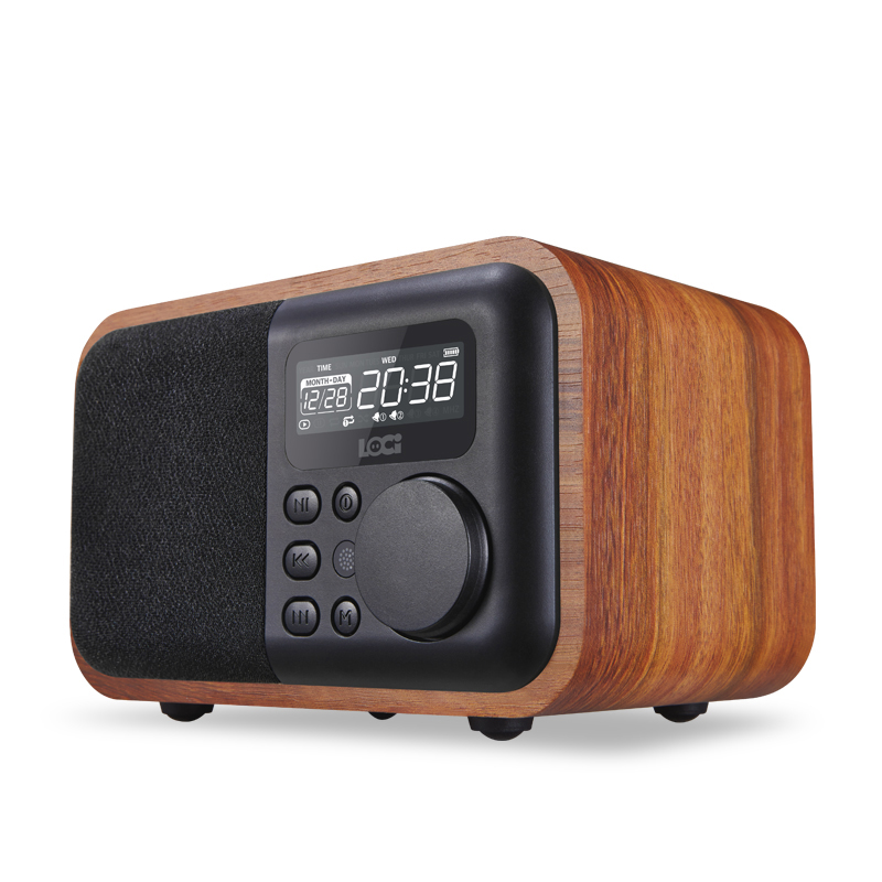 Luxury iBox D90 Multimedia Wooden Bluetooth Microphone Speaker with FM Radio Alarm Clock TF/USB MP3 Player Wood Stereo Subwoofer(China (Mainland))