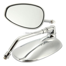 MOTORCYCLE CHROME 10mm REARVIEW MIRRORS SIDE MIRROR FOR SUZUKI MOTORCYCLE BOULEVARD M109R CRUISER FREE SHIPPING(China (Mainland))