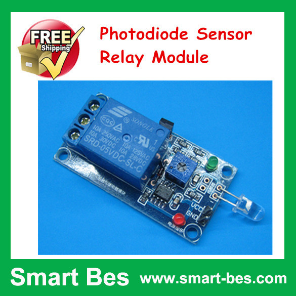FreeShip 15pcs/lot Photodiode Sensor Relay Module,Relay Module Two in One, Light Control Switch Photosensitive Sensor<br><br>Aliexpress
