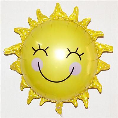 Здесь можно купить  50 pcs 65x65cm sun smile balloons foil balloons children gift birthday/party/event celebration decoration wholesale  Игрушки и Хобби