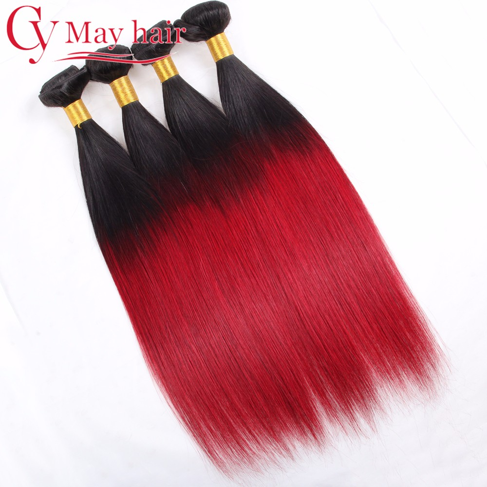 Ombre Malaysian Virgin Hair Ombre 4 Bundles Malaysian Straight Hair Real Hair Extentions Malaysian Hair Weave Bundles