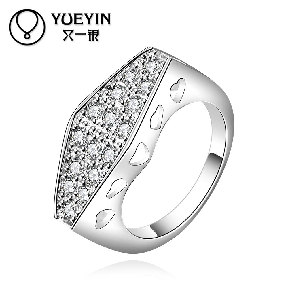 R547-8 Hot Sale Popular Silver Plated simulated diamond Rings Fashion Women Jewelry Factory price Christmas Gift HAI(China (Mainland))