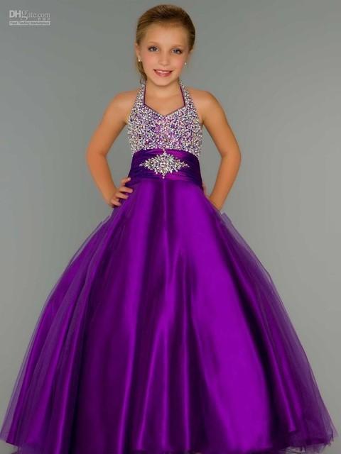Бальное платье фиолетовый театрализованного платья 2015 спинки полный бисером повод ...