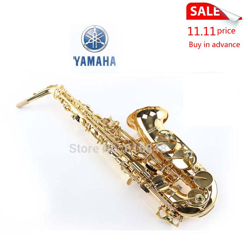 Saxophone YAS - 200 dt E Alto Musical Instruments Professional Sax Surface Gold Good Quality wutingting wu's store