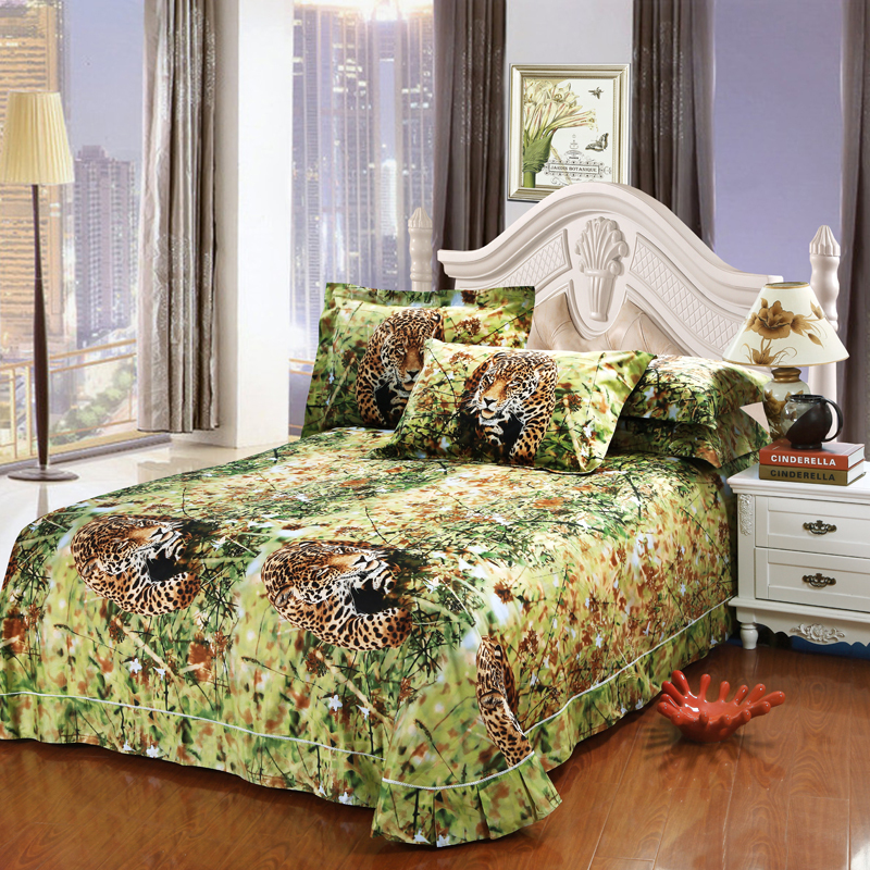 Bedding satin picture more detailed picture about jungle animal cheetah print 3d bedding set - Cheetah print queen comforter set ...