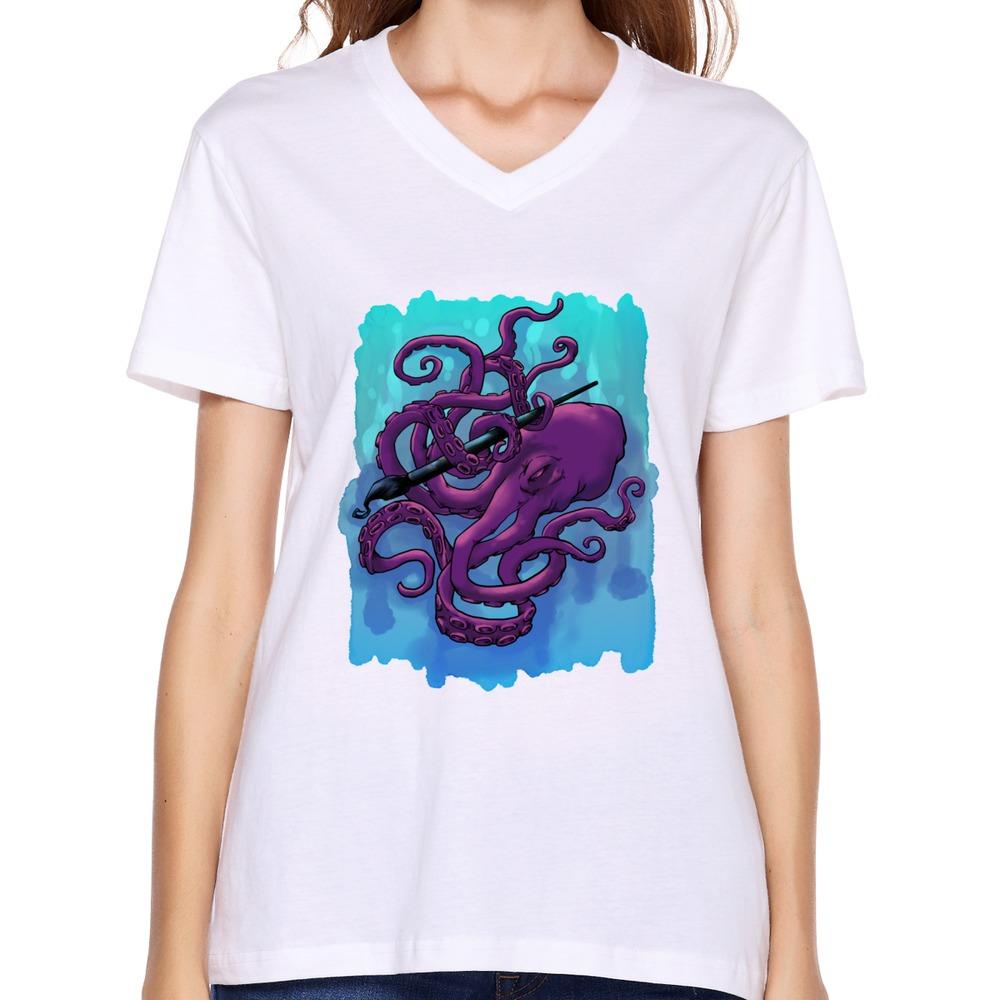 Custom Cool Ninja Girlfriend Clothing Casual Octopus T