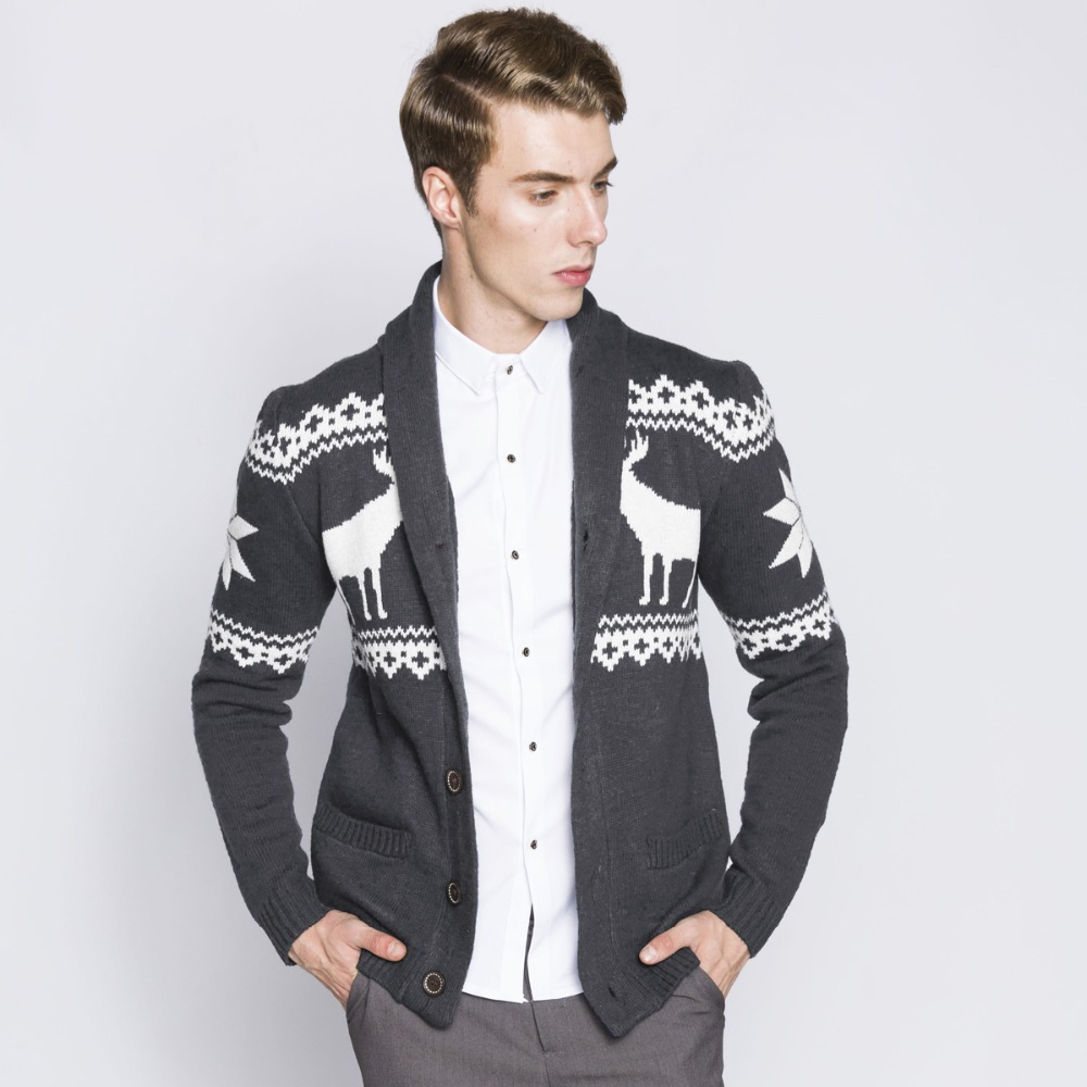 Christmas Mens Sweater With Moose Deer - Sweater Tunic