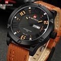 2016 Naviforce Men Wristwatch Luxury Sport Watches Men Leather Quartz Wrist Watch Clock Top Brand Luxury