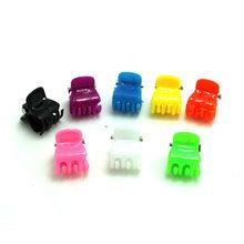10x/Set Fashion Colors Women Girl Kids Hairpin Mini Plastic Practical DIY Hair Claw Clip(China (Mainland))