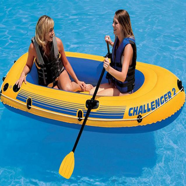 Challenger 2 Inflatable Boat kayak with Oars and pump For 2 persons Blow Up Raft(China (Mainland))