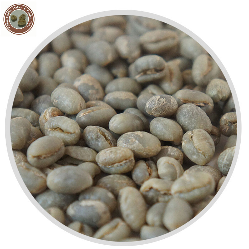 2Kg Peaberry AA Green Coffee Bean Yunnan China Organic beans