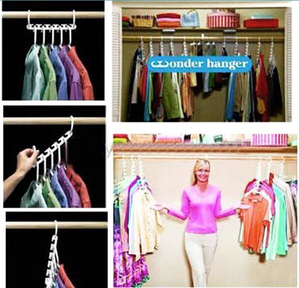 Portable Travel Folding Laundry Racks Plastic Multipurpose Magic Wardrobe Hanger Home Closet Clothes Organizers Free Shipping(China (Mainland))