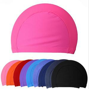 2014 Fashion Durable Sporty Rubber Swim Cap/stylish Swimming Hat Red(China (Mainland))