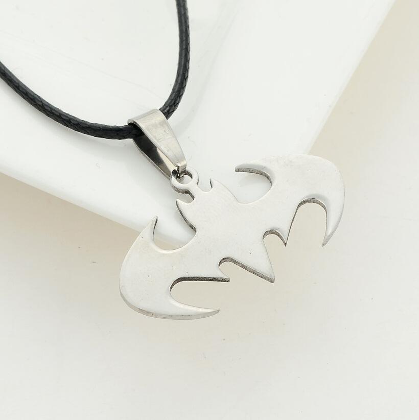 Pendant Necklace Silver Steel Bat Batman Fine Jewelry statement necklace 2015 Fashion Necklace Men summer style