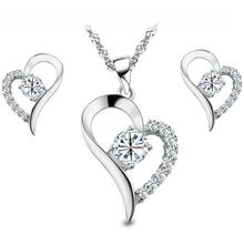 Высокое качество 925 серебряных ювелирных изделий устанавливает ааа циркония комплект ювелирных изделий лучший рождественский подарок для девочек и женщин(China (Mainland))